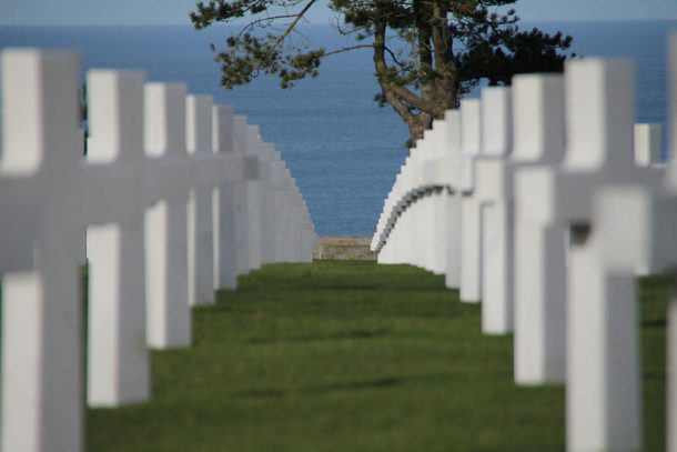 The street of the fallen soldiers in Normandy
